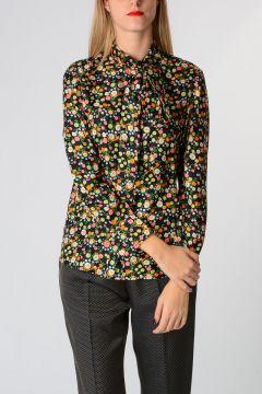Silk Floral Printed AZRA BOW Blouse
