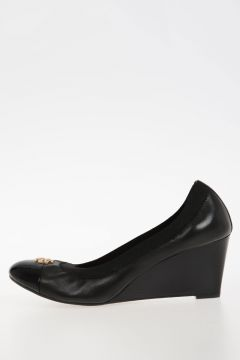 6.5cm wedge Leather shoes