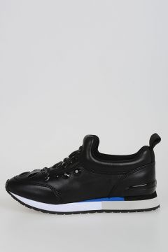 Leather LANEY Sneakers with Jewel Applications