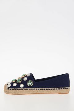 Fabric Studded Espadrille