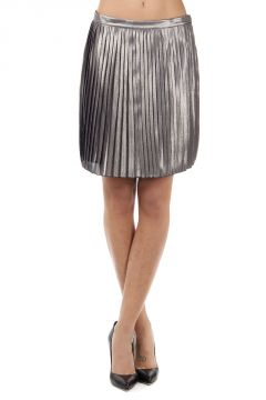 "Silk mixed ""Audra"" pleated skirt"