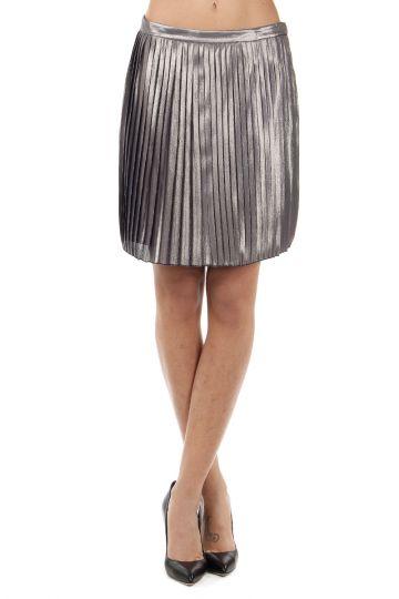 "Silk mixed ""Audra"" pleated skirt"