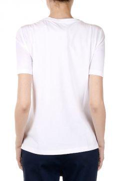 T-shirt Stampa Foglia con Glitter