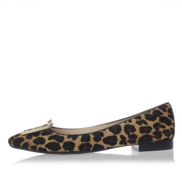 Leopard Print Leather GRAYSON FLAT Shoes