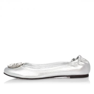 Metallic Leather REVA Flats