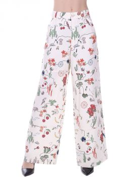 Printed Silk Pants