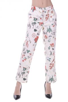 Pantalone in Cotton Stretch a Fantasia