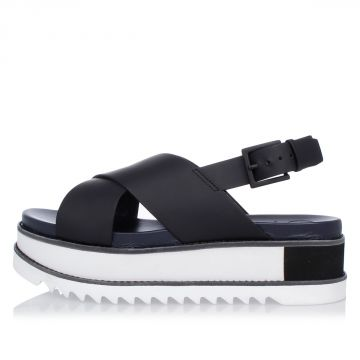 Sandal GLORIETTE PLATFORM in Leather and Rubber