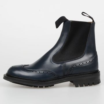Brogue Leather SILVIA Chelsea Boots