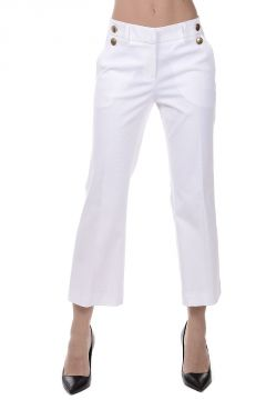 Stretch Cotton Capri Pants