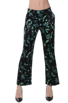 Stretch Silk Printed Pants