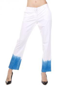 Pantalone Sfumato in Cotone Stretch