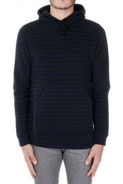 Hooded Striped Wool Sweater
