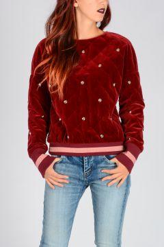 Quilted Velvet Sweatshirt