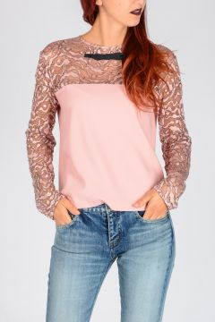 Fabric & Lace Top