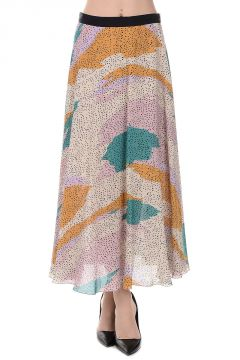 Viscose and Silk Accordion Skirt