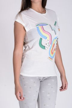 TWISTY PARALLEL UNIVERSE T-shirt in Jersey di Cotone
