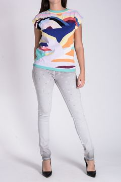 TWISTY PARALLEL UNIVERSE Top in Maglia a Fantasia