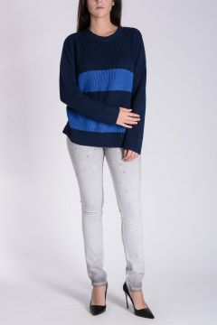 TWISTY PARALLEL UNIVERSE Cotton Sweater