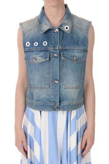 Sleeveless Denim Jacket