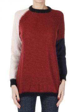 Mohair Mixed Round Neck Sweater