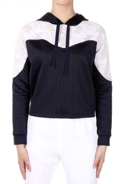 Hooded Cotton Mixed Sweatshirt