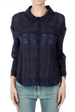 Camicia Trasparente in Maniche Lunghe