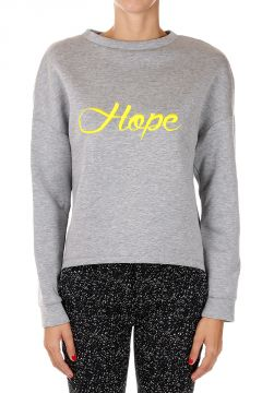 Embroidery HOPE Round Neck Sweatshirt