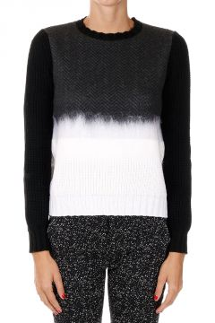 Mixed Virgin Wool Crew Neck Sweater