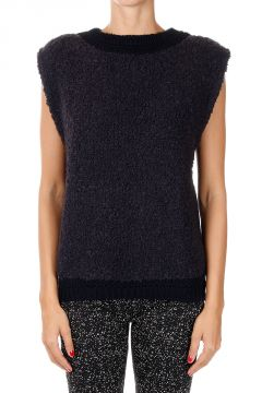 Wool Blend Sleeveless Sweater