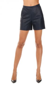 Leather High Waisted Bermuda Shorts