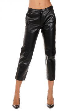 Pantaloni Capri in Pelle