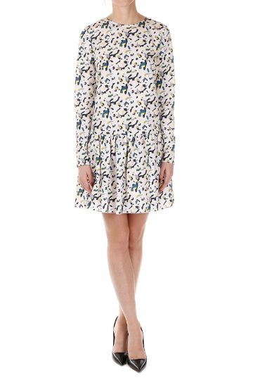 Printed Dress With Long Sleeve