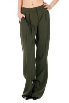 Pantalone WIDE LEG in Tessuto Stretch