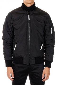 Zipped Padded bomber Jacket