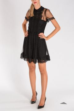 RED VALENTINO Flared Lace Dress