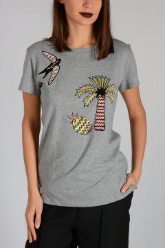 T-Shirt con Borchie & Applicazioni