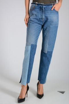 16cm Asymmetric Cut Ankle Jeans