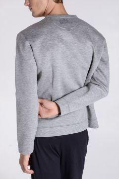 Floral Printed Neoprene Sweatshirt