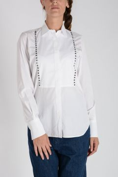 Studded Popeline Cotton Blouse