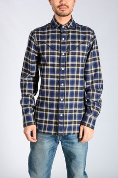 Cotton & Wool Checked Shirt