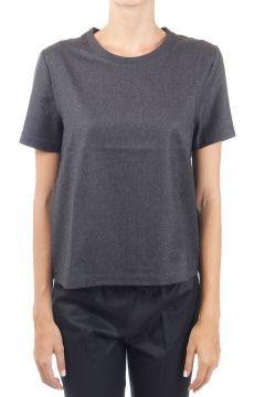 T-shirt in lana vergine e kashmere