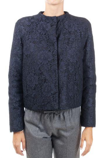 Laced padded jacket