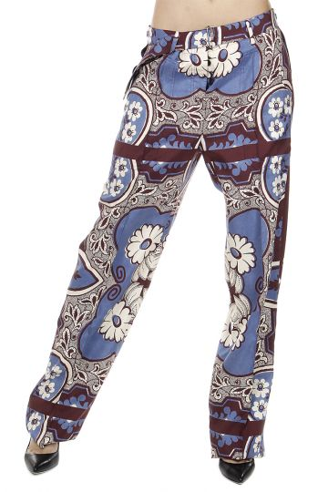 Pantaloni in Seta con Stampa