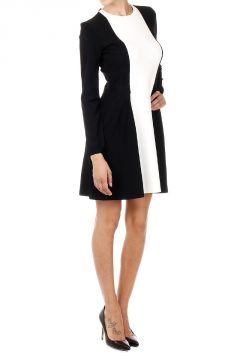 Long Sleeve Bicolor  Dress