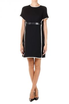 Wool and Silk Tunic Dress With Belt