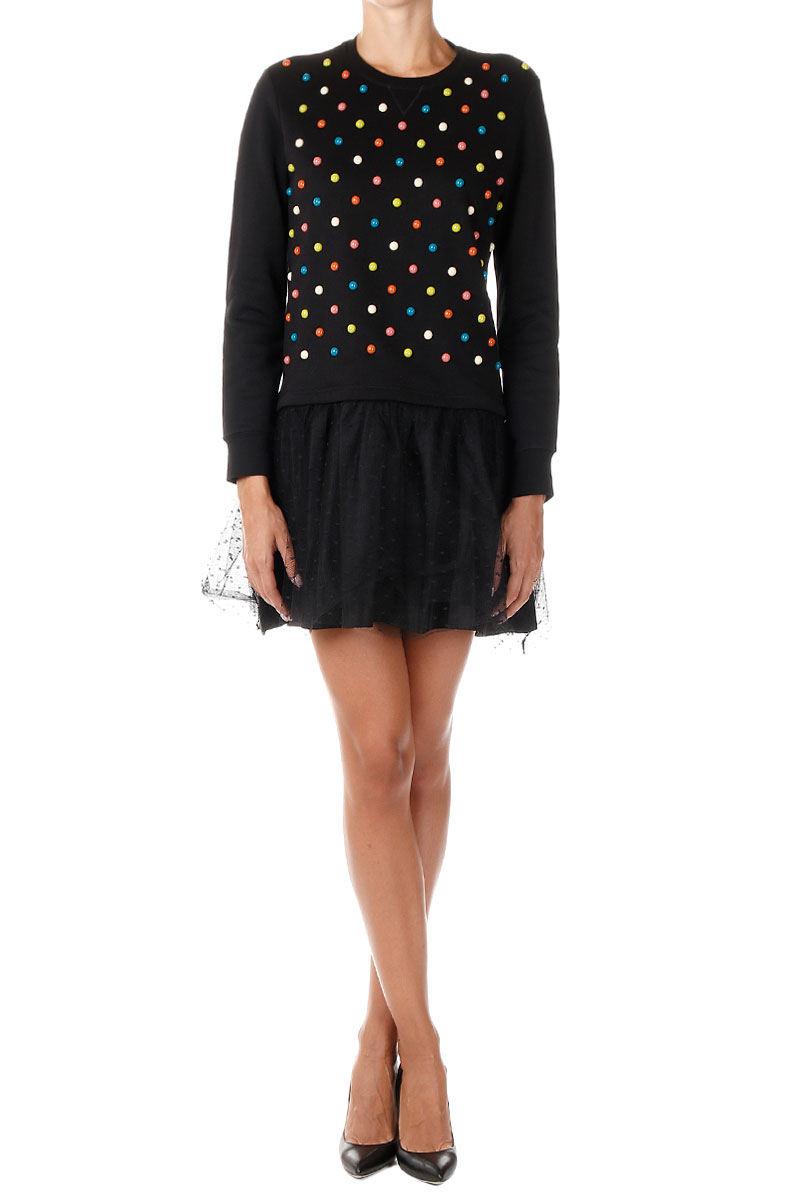 449486a75f Valentino Women Studded Fleece Dress - Glamood Outlet