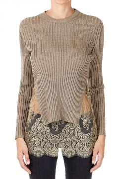 Lace Ribbed Sweated