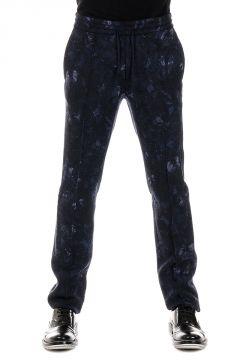 Pantaloni in Lana Stampa Fiori