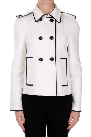 Mixed Virgin Wool Double-breasted Coat